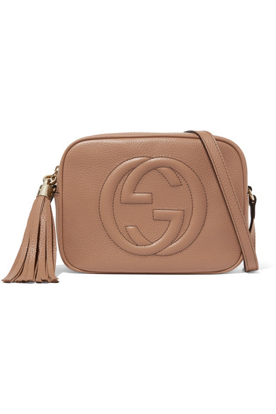 fa02dd5e630 Gucci Soho Disco Textured-Leather Shoulder Bag In Sand