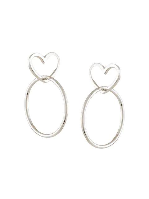 Natasha Schweitzer HerzfÖrmige Ohrringe In Silver