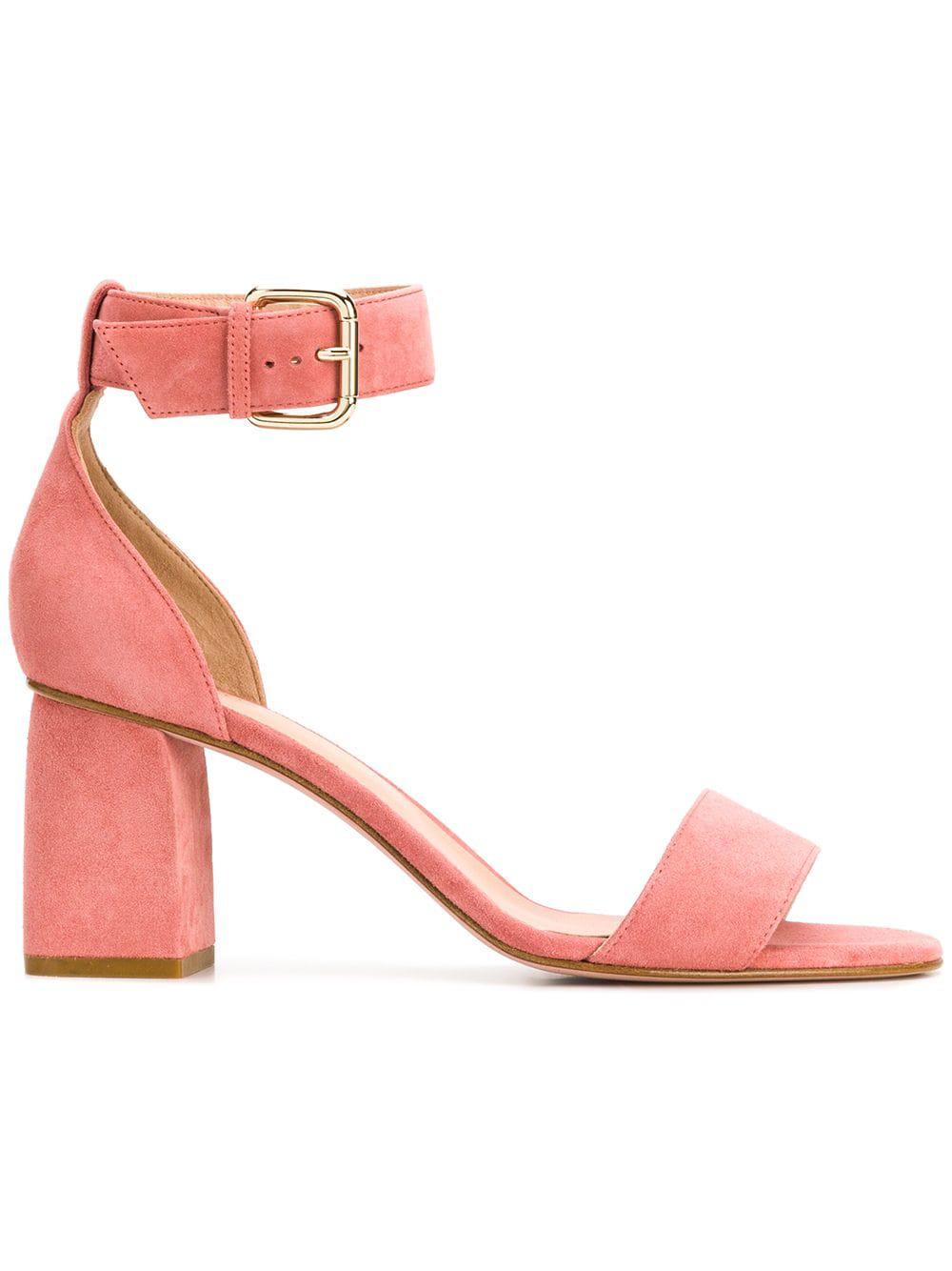 3e97f26f0876 Red Valentino Block Heel Sandals - Pink