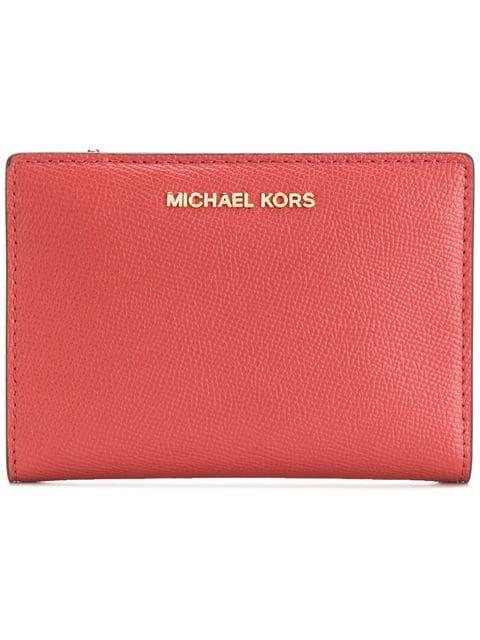 Michael Michael Kors Compact Purse In Orange