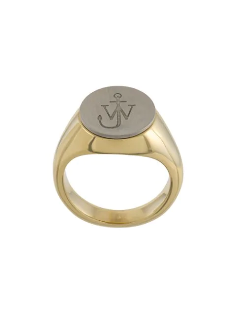 Jw Anderson Gold-plated And Silver-tone Ring In Metallic