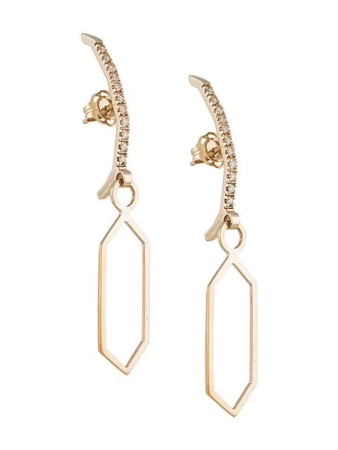 Natasha Schweitzer Bowie Drop Earrings In Gold