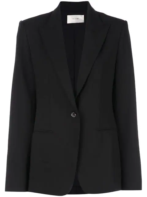 The Row Single Breasted Blazer In Black
