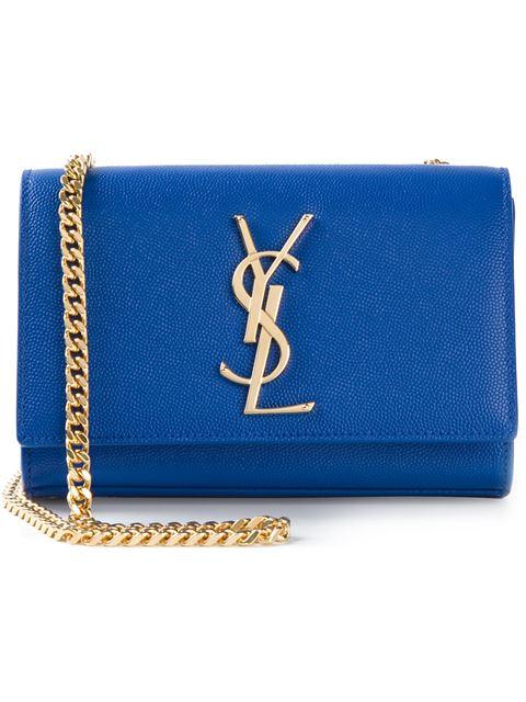 Saint Laurent Classic Small Kate Satchel In In Royal Blue Grain De Poudre Textured Leather