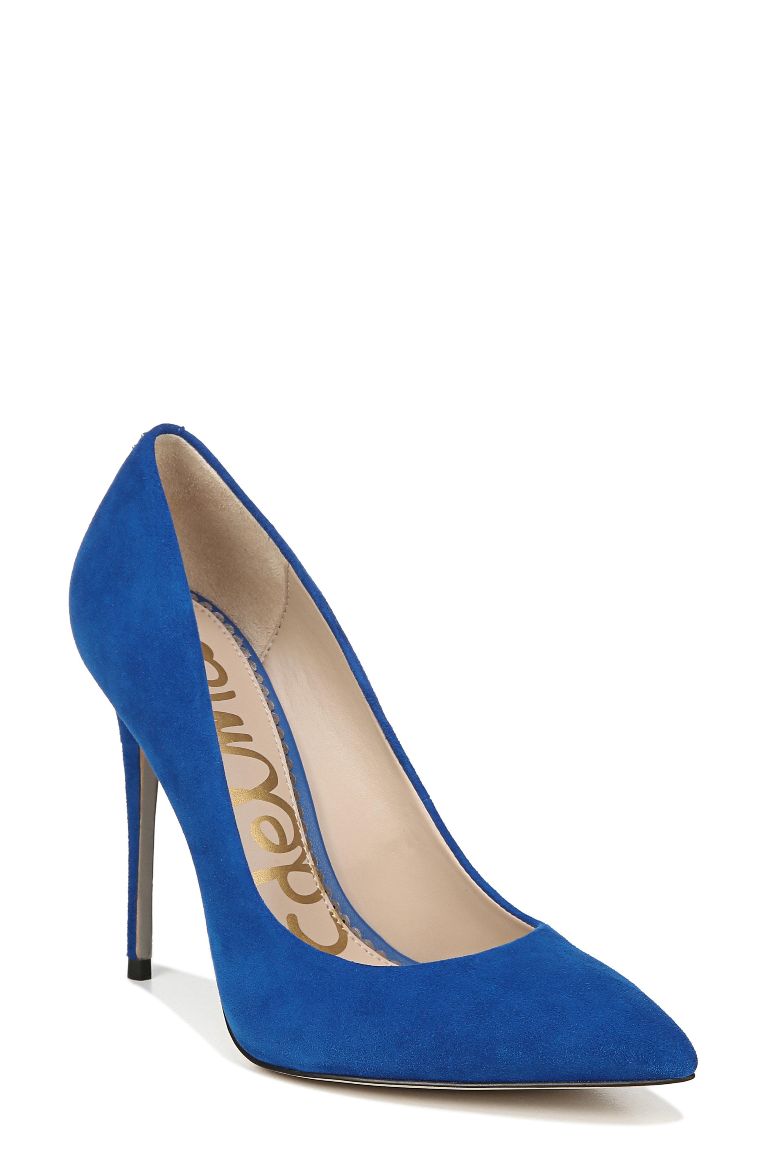 627c1e7de8afa1 Sam Edelman Danna Pointy Toe Pump In Sapphire Blue Suede