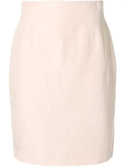 Fendi Midi Pencil Skirt In Pink