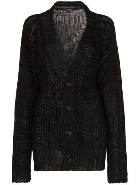 Ann Demeulemeester Loose Fit Knitted Cardigan In Black