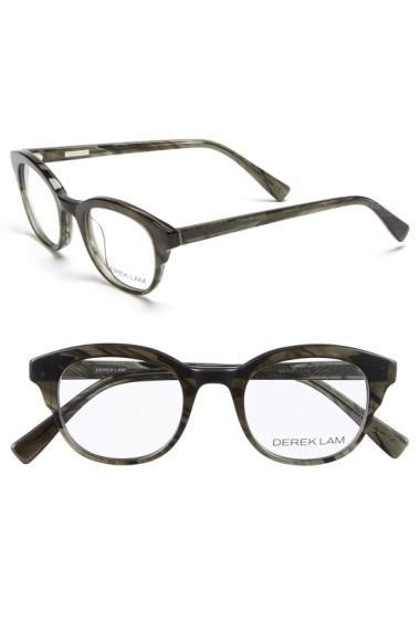 Derek Lam 46Mm Optical Glasses - Green Stripes