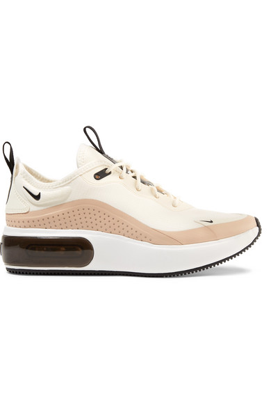 buy online e727d f2a0f Nike Air Max Dia Leather-Trimmed Mesh Sneakers In Cream