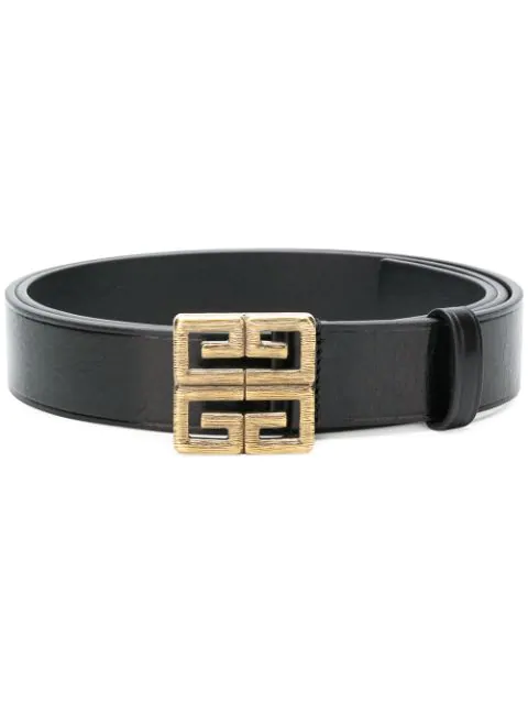 Givenchy Men's 4-G Buckle Reversible Leather Belt In Black
