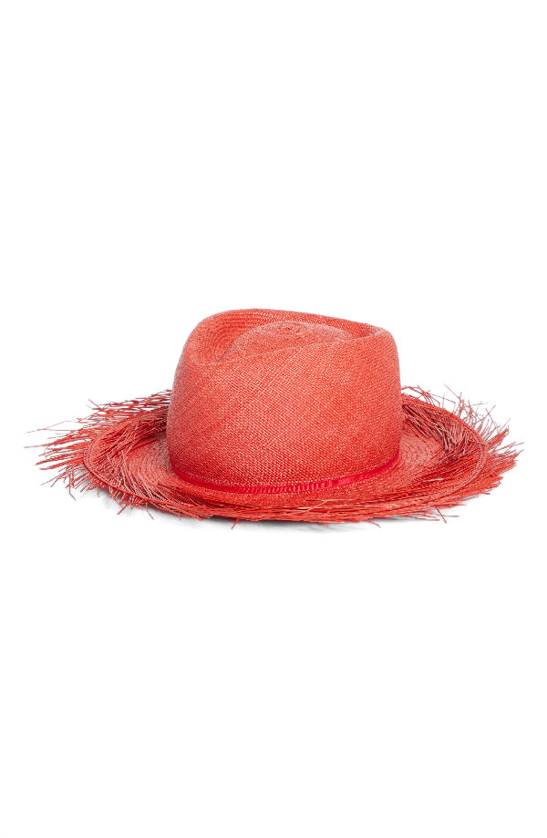 5f103d6986cde Gigi Burris Bungalow Straw Panama Hat In Punch Red