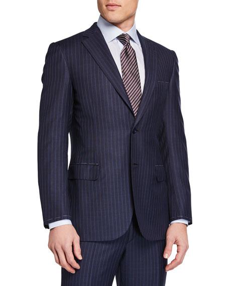 Brioni Men's Stripe Two-Piece Suit In Blue
