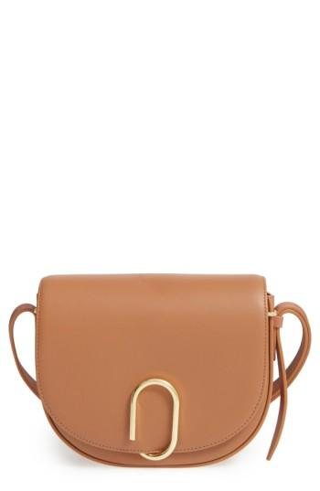 3.1 Phillip Lim Alix Leather Saddle Bag - Brown In Camel