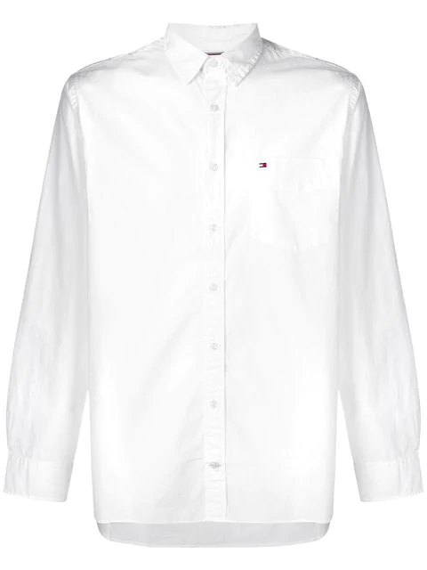 Tommy Hilfiger Essential Front Pocket Shirt In White