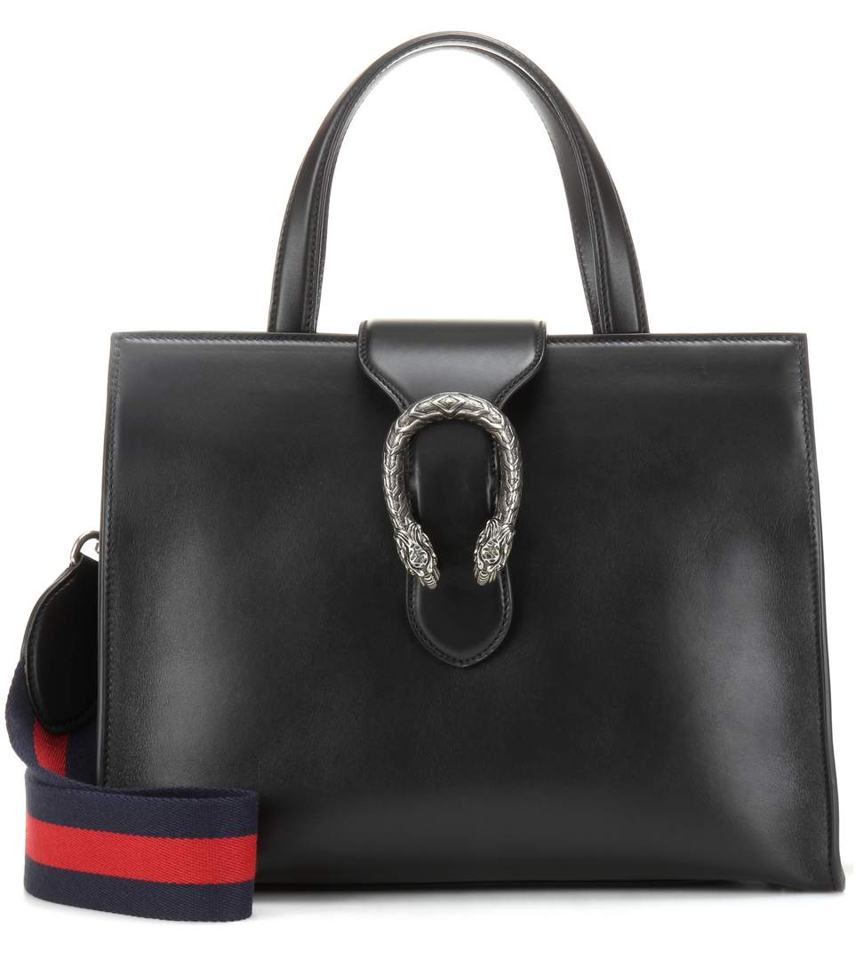 Gucci Dionysus Small Leather Tote In Eero