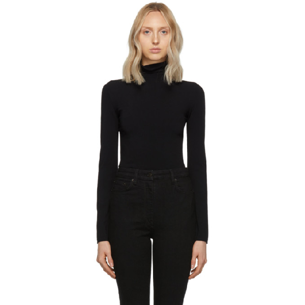 The Row Black Dronia Turtleneck In Blk Black
