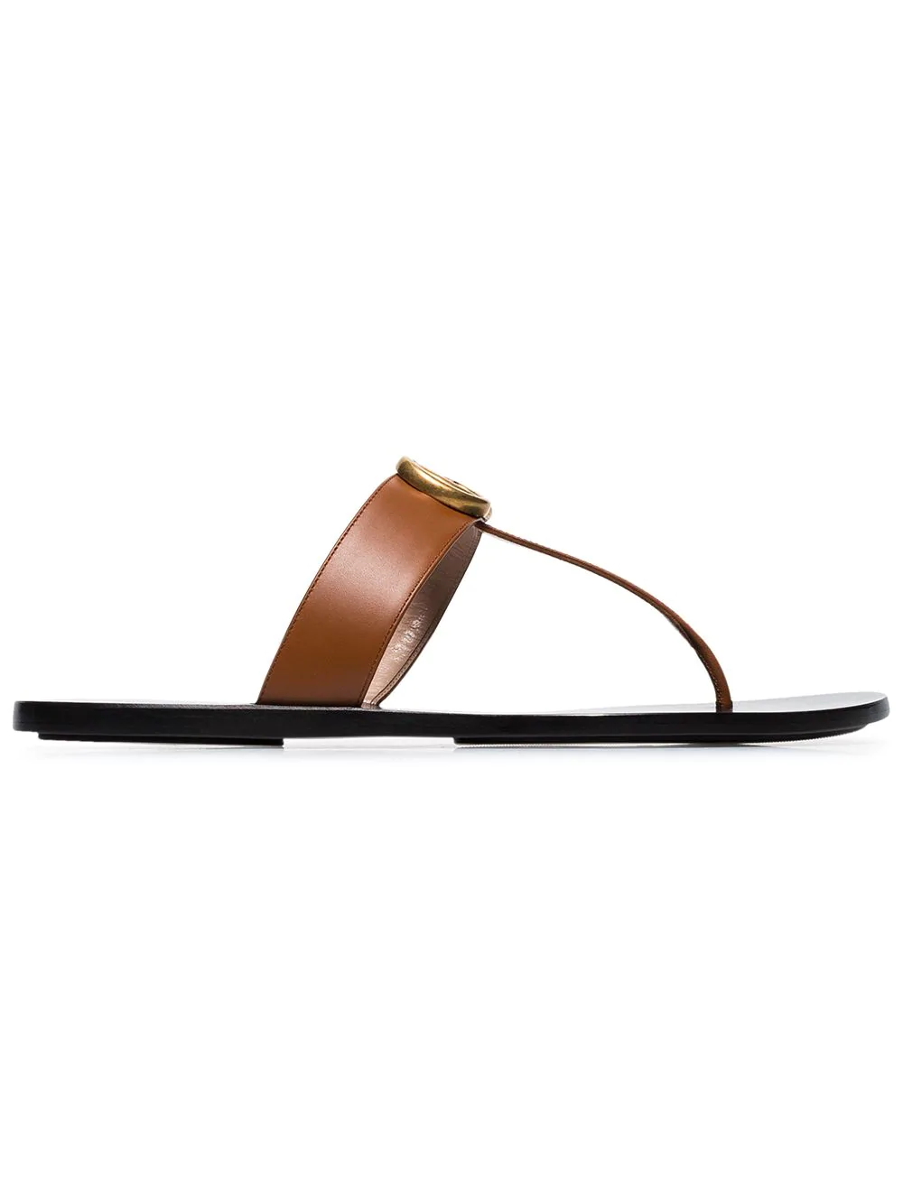 ef9cf3e4c904 Gucci Brown Gg Marmont 110 Leather Sandals | ModeSens
