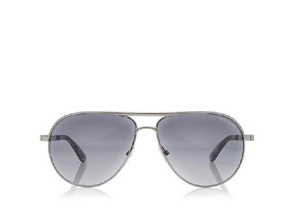 605b19ac7be97 Tom Ford Georges Angular Aviator Sunglasses