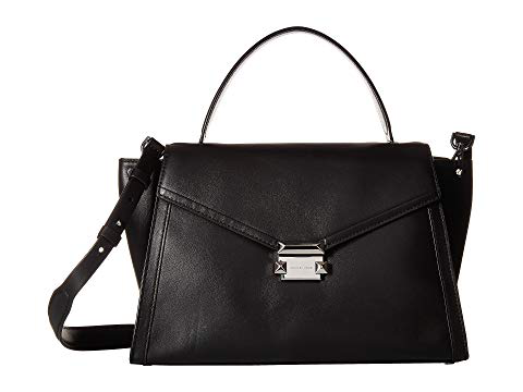 118002b36e2f Michael Michael Kors Whitney Large Leather Top-Handle Satchel Bag In Black