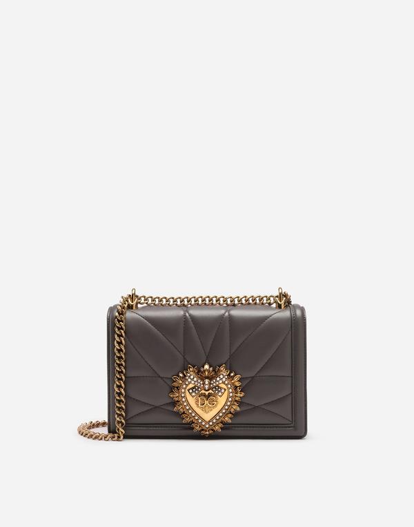 Dolce & Gabbana Medium Devotion Shoulder Bag In Nero