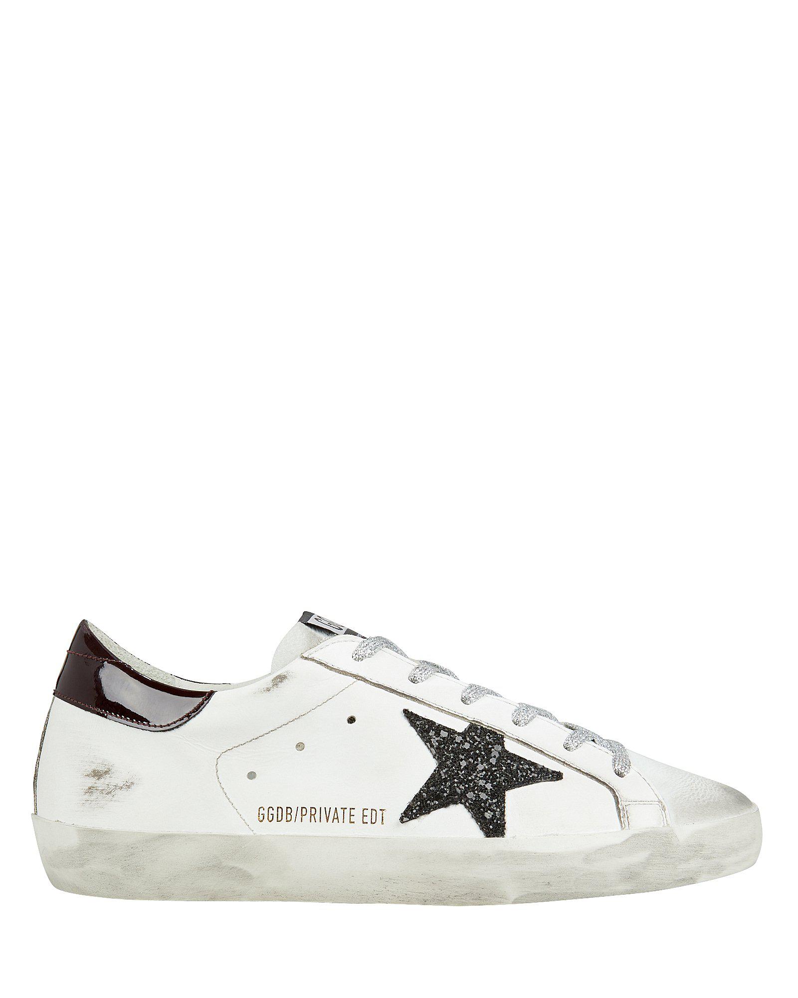 Golden Goose Superstar Glitter Star Low-Top Sneakers