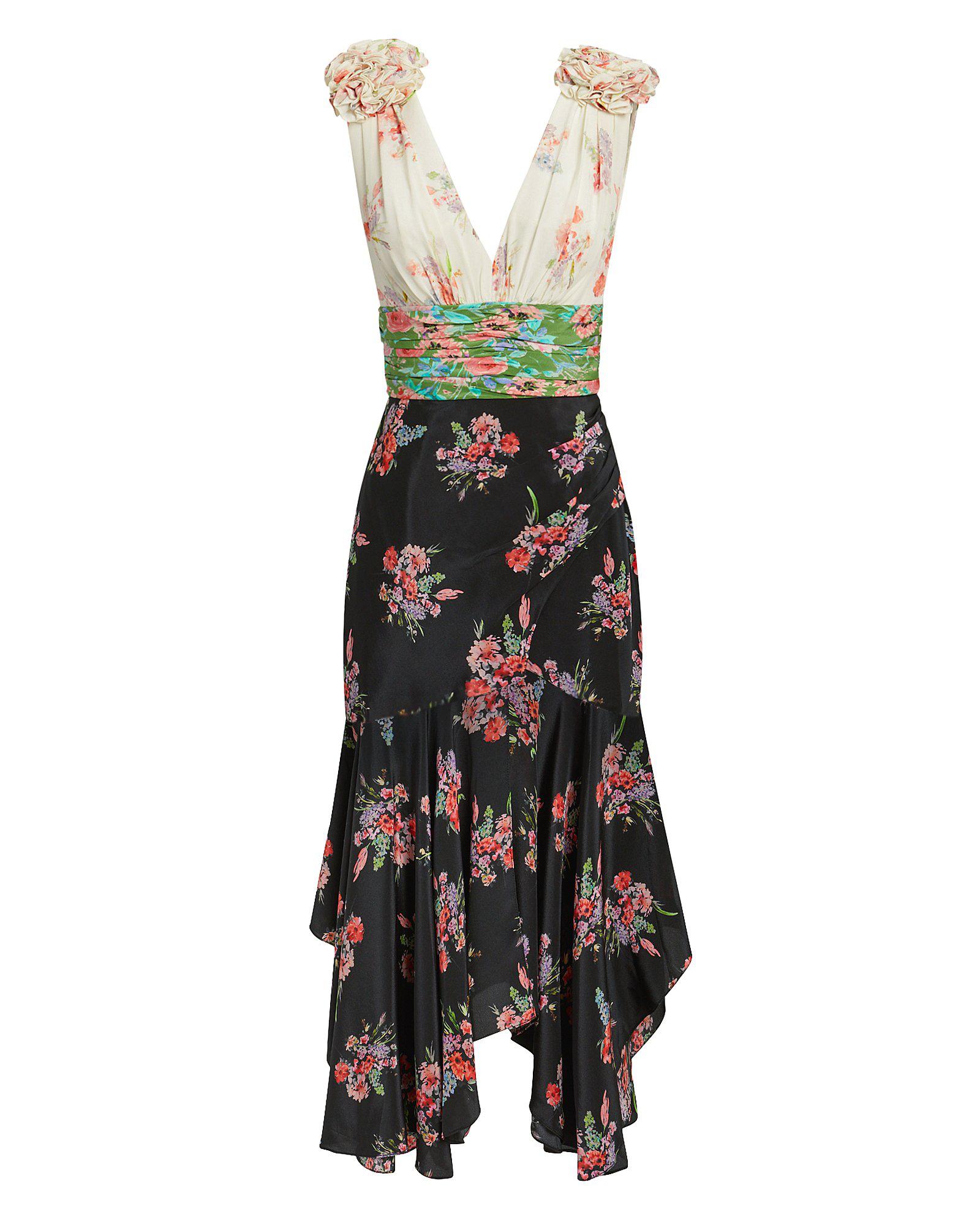 f4b6c4234ec Amur Lolly Mixed Floral Midi Dress