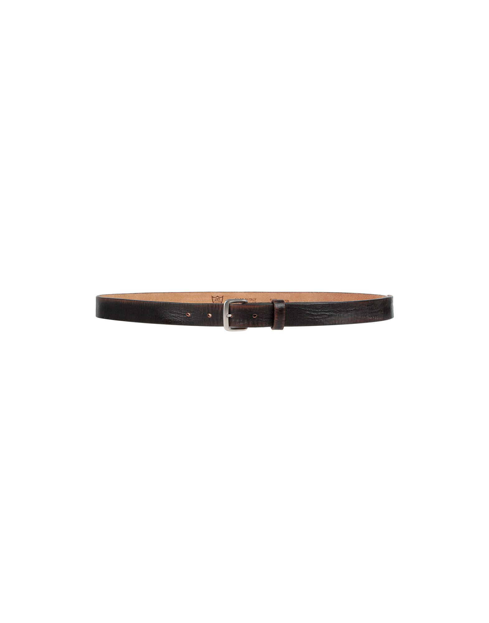 Htc Leather Belt In Dark Brown
