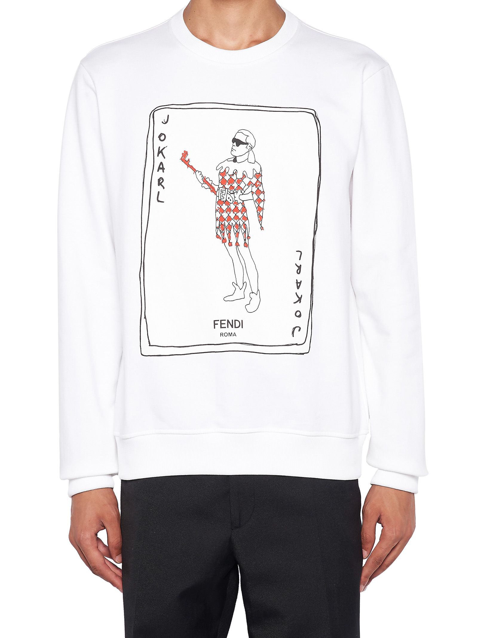 ec6a94c0b Fendi Jokarl Fashion Show Print Sweatshirt - White | ModeSens