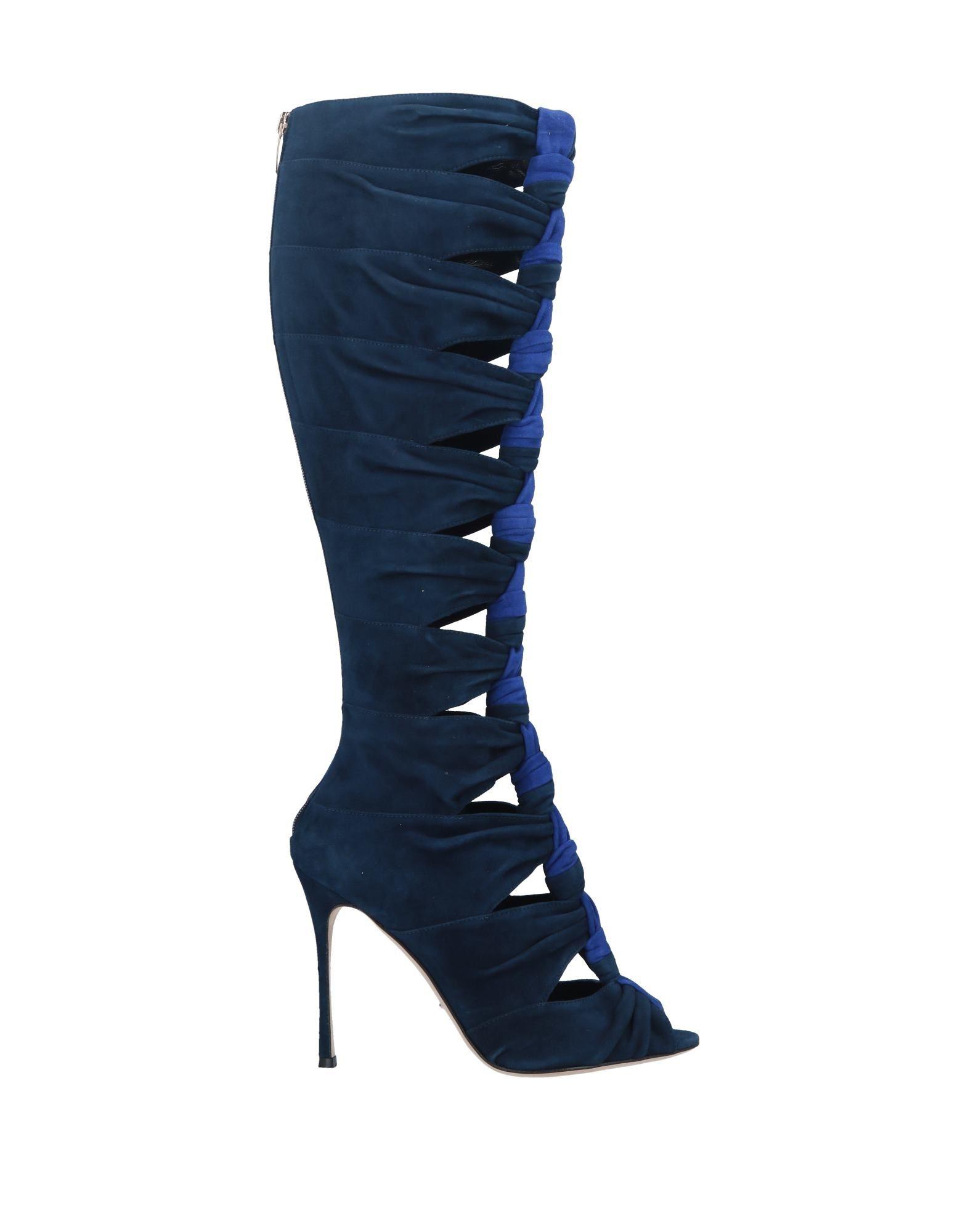 Sergio Rossi Boots In Bright Blue