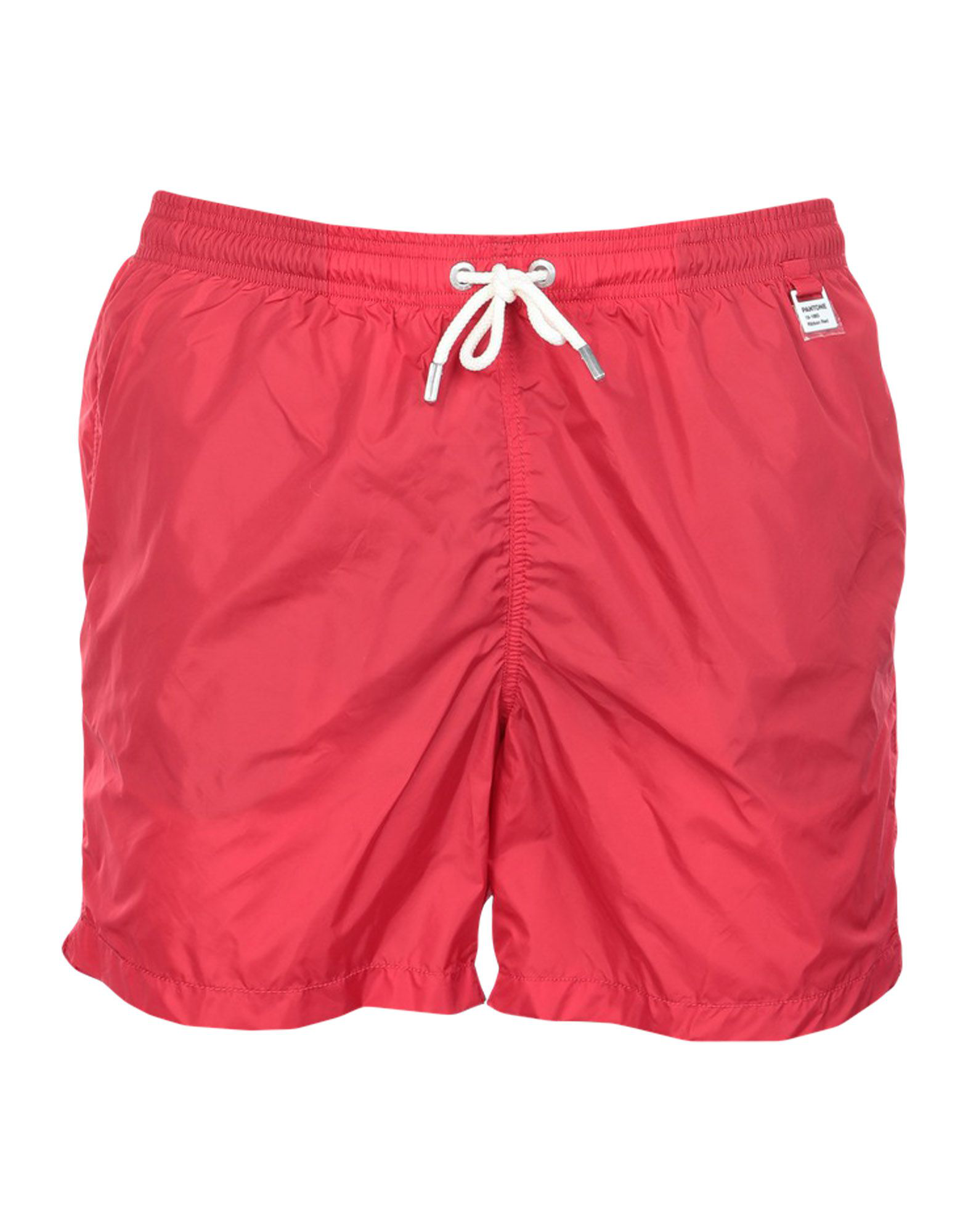 Mc2 Saint Barth Lighting Pantone Swim Shorts In Red