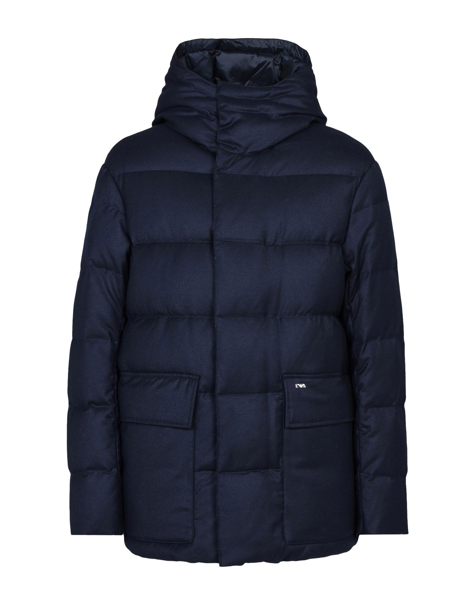 Emporio Armani Down Jackets In Dark Blue