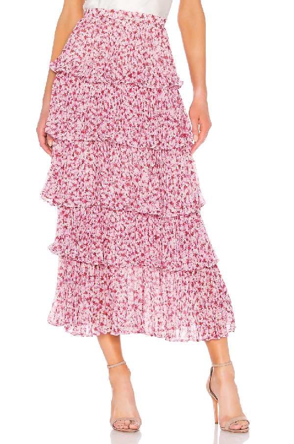 new items a great variety of models find workmanship Paisley Floral Print Maxi Skirt in Pink