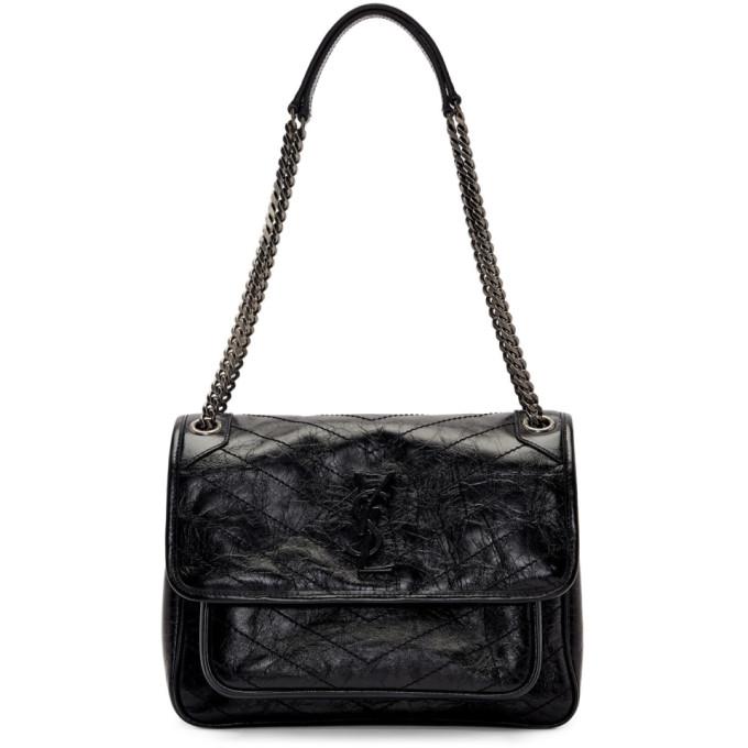 5d73ae972a29 Saint Laurent Black Medium Vintage Leather Niki Bag In 1000 Black ...