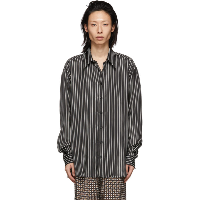 Joseph Black Striped Martin Shirt In 0010 Black