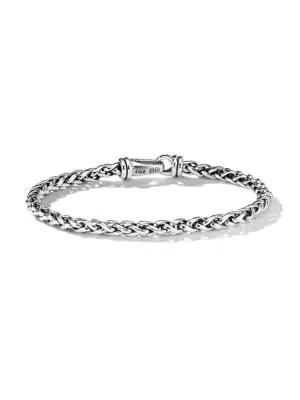 David Yurman Chain Sterling Silver Wheat Bracelet