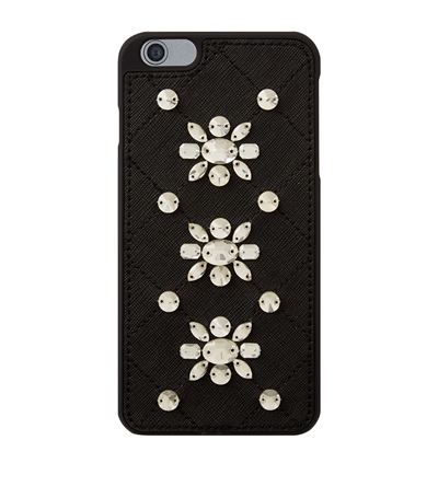 Michael Michael Kors Crystal Embellished Iphone 6 Plus Case In Black
