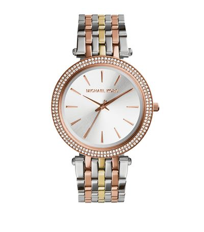 Michael Kors 'darci' Round Bracelet Watch, 39mm In Tri Tone