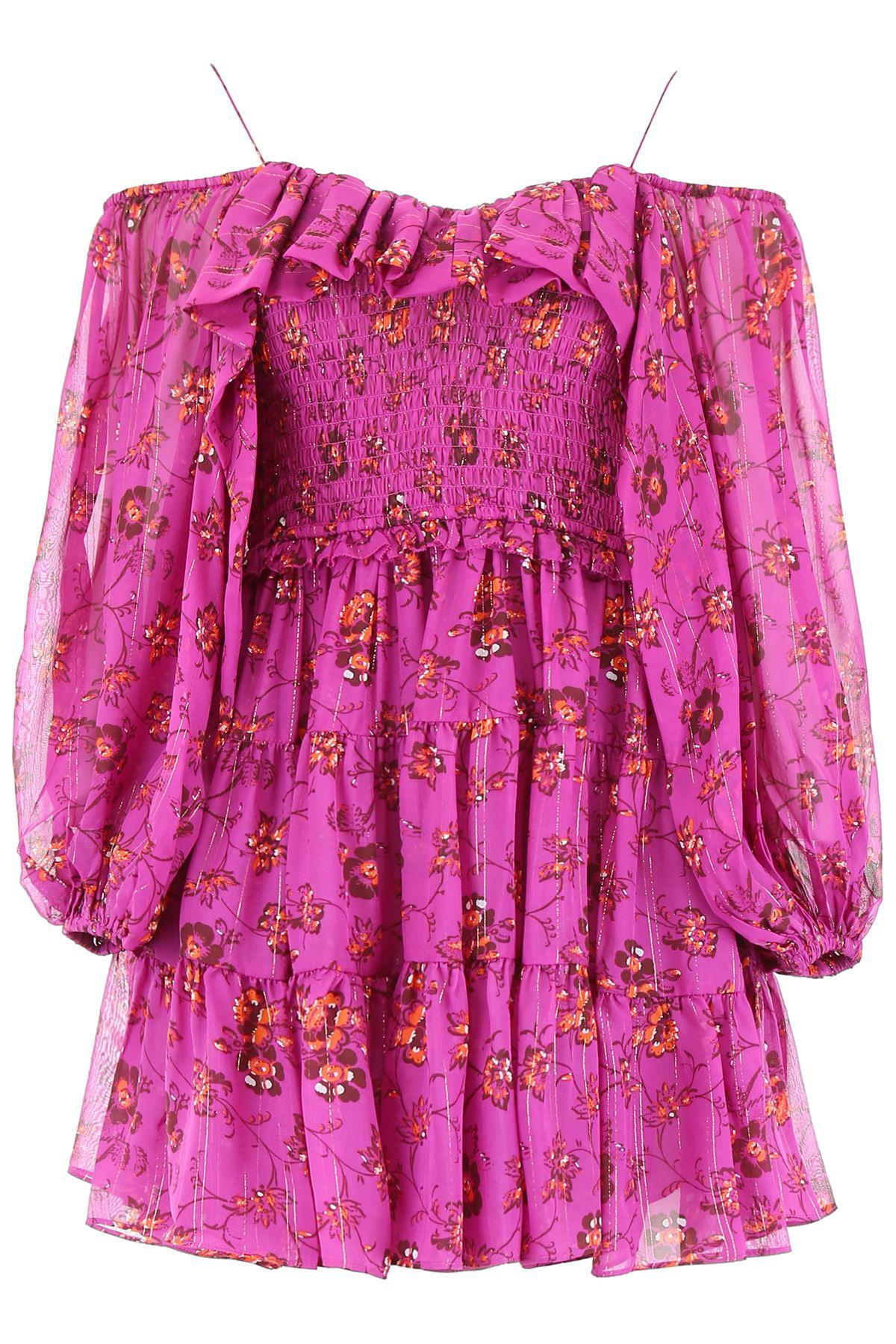 Ulla Johnson Monet Mini Dress In Magenta (Purple)