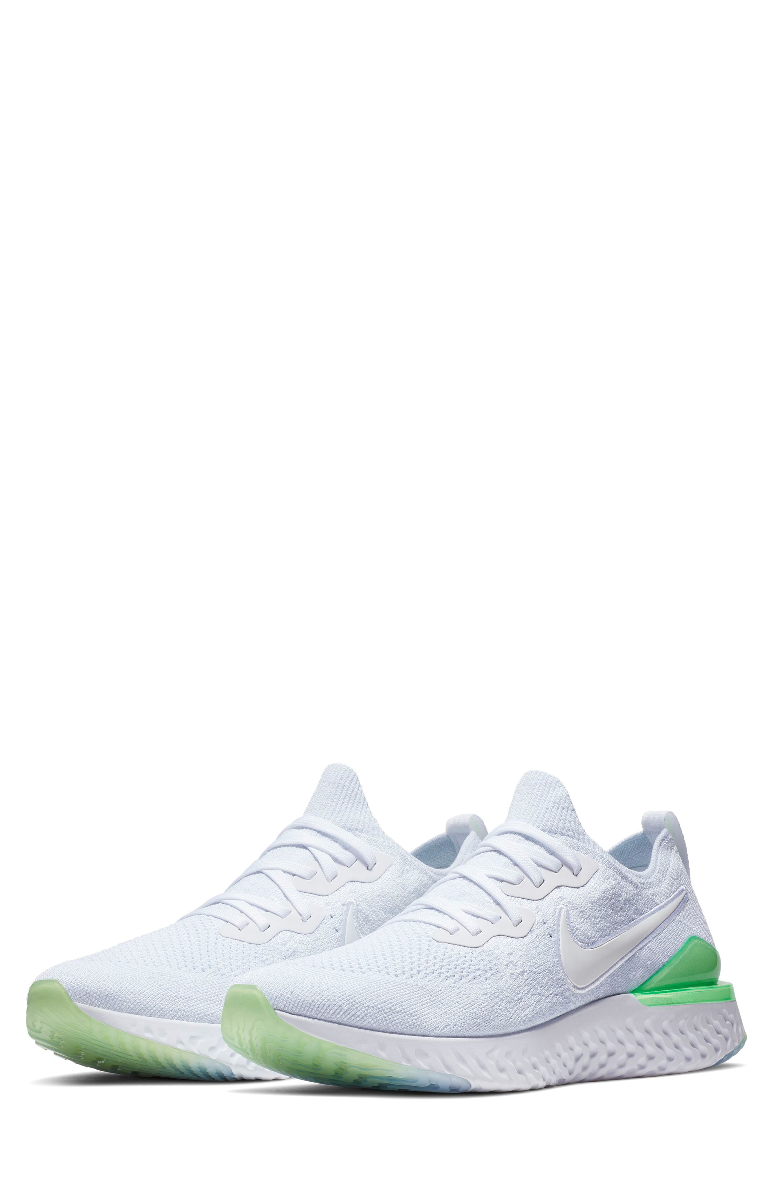 3579cd092 Nike Epic React Flyknit 2 Running Shoe In White/ White/ Lime Blast ...