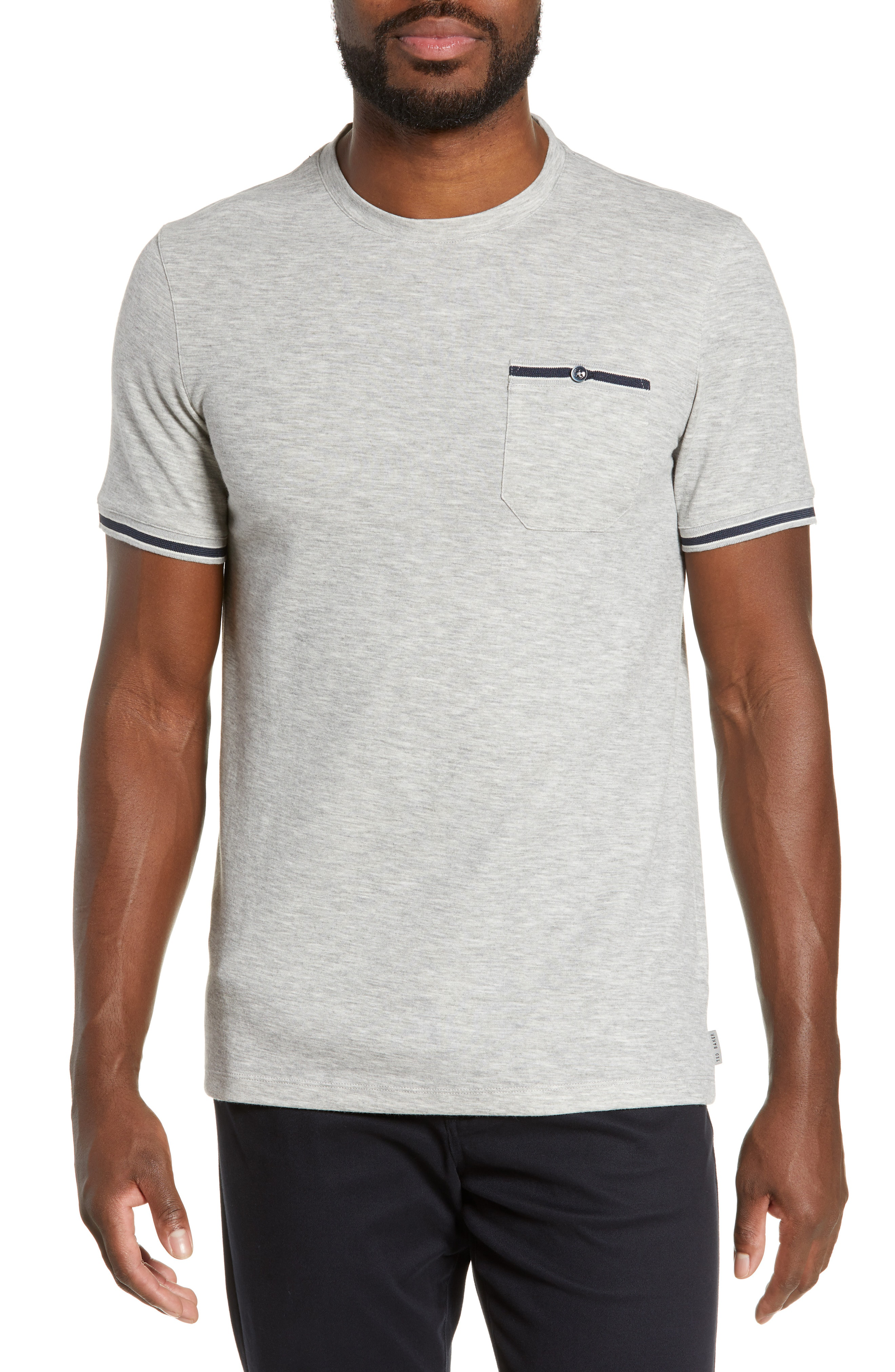 986ad3080e8182 Ted Baker Khaos Slim Fit T-Shirt In Grey-Marl