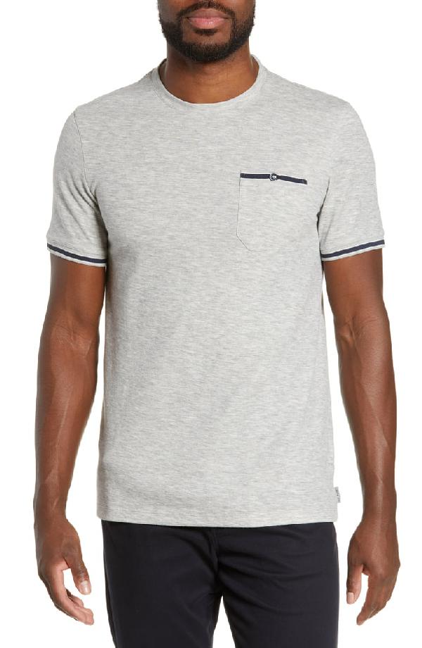 Ted Baker Khaos Slim Fit T-Shirt In Grey-Marl