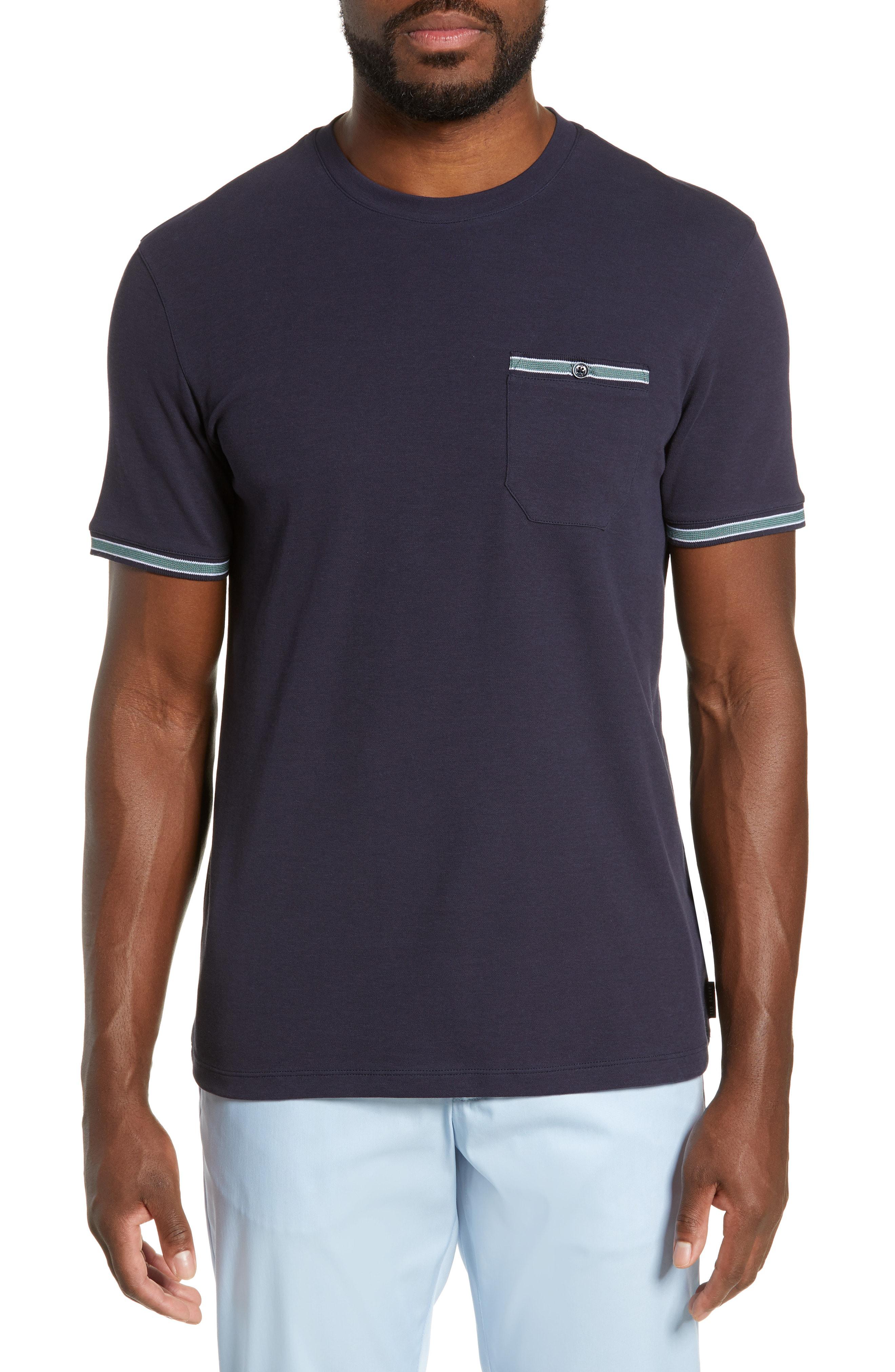 Ted Baker Khaos Slim Fit T-Shirt In Navy