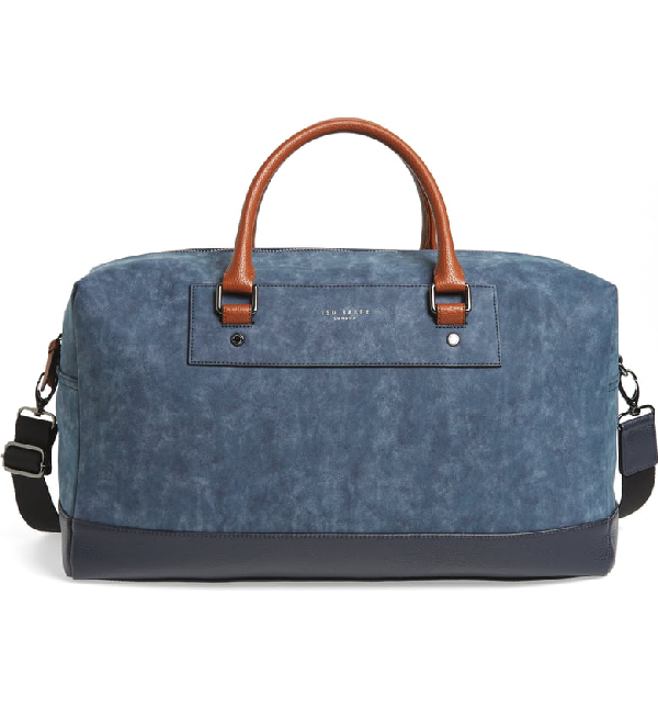 Ted Baker Mackers Pu Holdall In Navy
