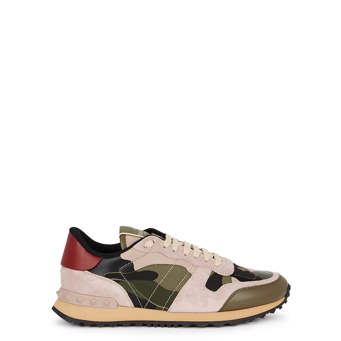 077dd5277 Valentino Runner Camouflage-Print Trainers In Pink | ModeSens