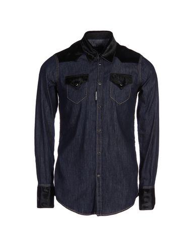 Dsquared2 Denim Shirts In Blue