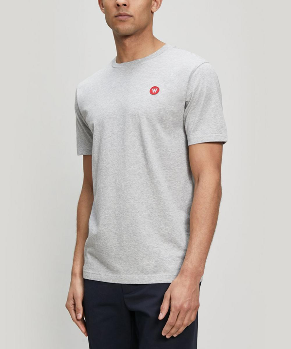 Wood Wood Ace Small Aa Logo Cotton T-shirt In Grey