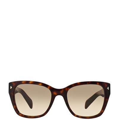 Prada 54mm Square Sunglasses In Brown