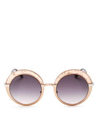 9cc1483206e7 Jimmy Choo Gotha S 50Mm Round Sunglasses - Light Gold  Semi Matte ...