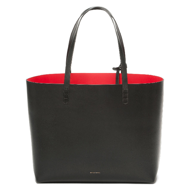 Mansur Gavriel Large Vegetable-Tanned Leather Tote Bag In Flamma