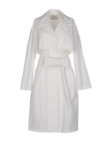 Acne Studios Belted Coats In White